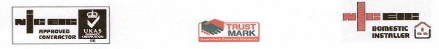niceic approved domestic installer trustmark
